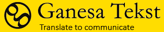 Ganesa Tekst - Translate to communicate Logo